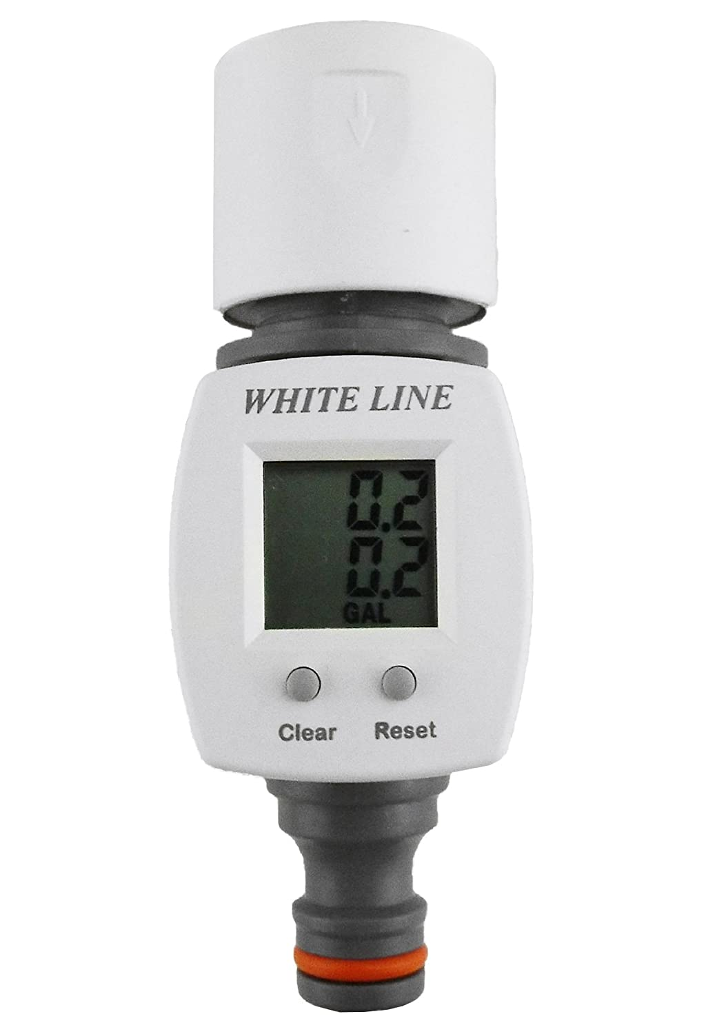 Digital Water meter with click-lock fittings for easy connection,measures up to 1000l BRADAS
