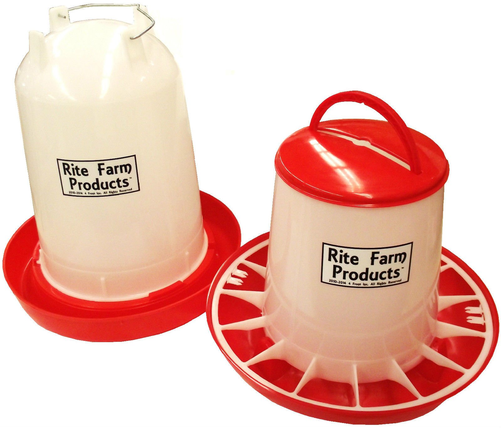 COMBO X-LARGE RITE FARM PRODUCTS 3.7 GAL & 20 LB WATERER & FEEDER CHICKEN POULTRY