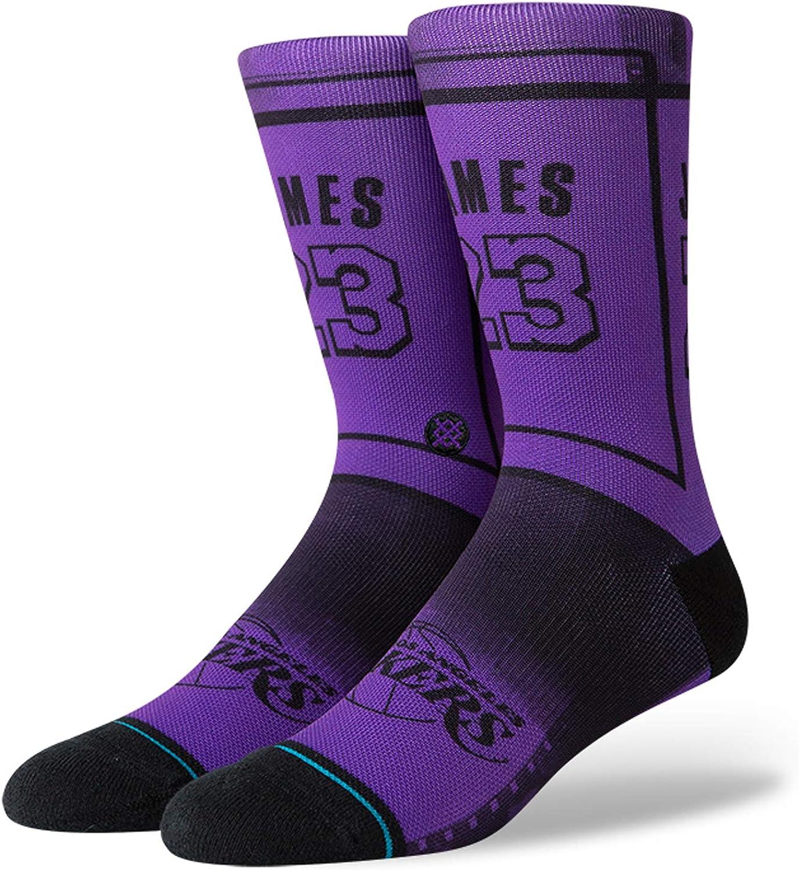 Stance NBA Los Angeles Lakers Lebron James LBJ 2 La Calcetines Hombre Morado