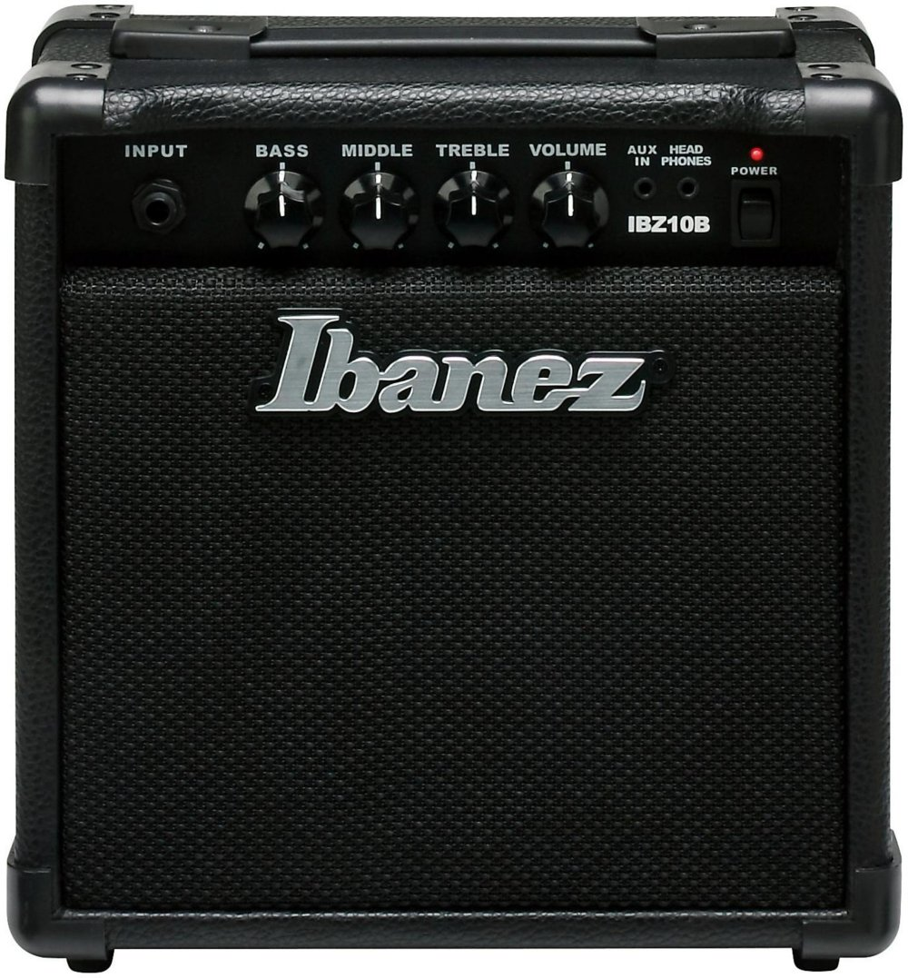 Ibanez IBZ10B 10W Practice Bass Guitar Amplifier, Black by Ibanez