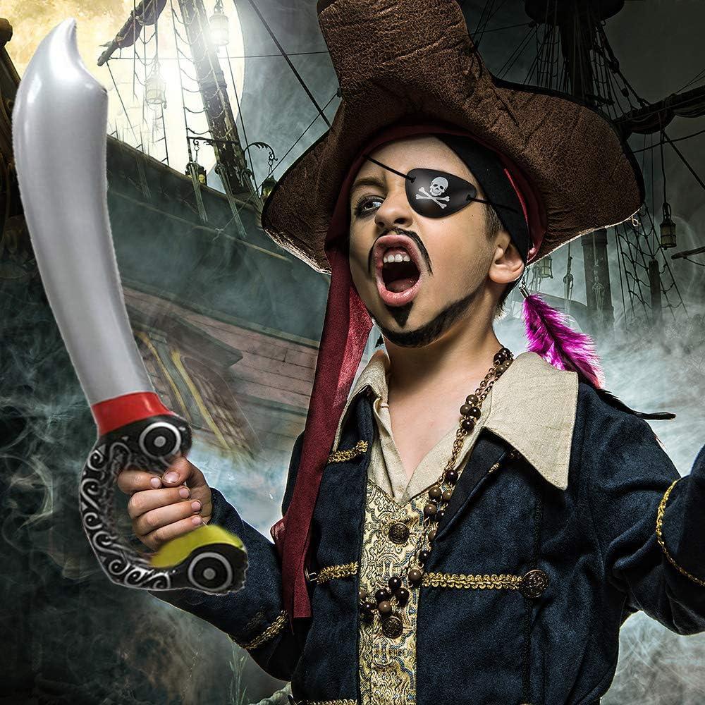 Pirata Costume Kit Set-Sciarpa-Eye Patch-BAFFI