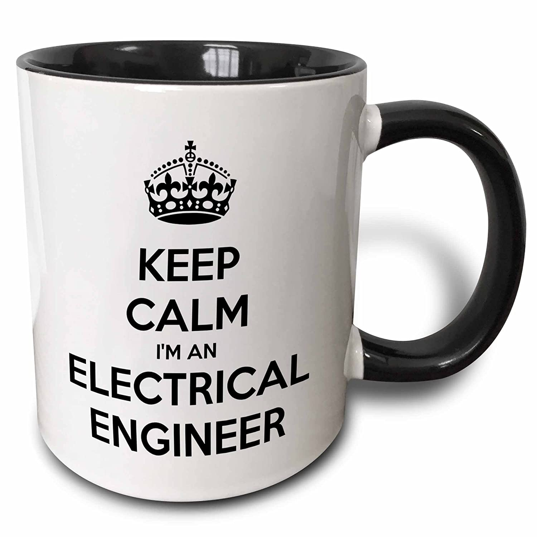 59688f03d Amazon.com: 3dRose EvaDane - Funny Quotes - Keep calm Im an electrical  engineer. - 15oz Two-Tone Black Mug (mug_193548_9): Kitchen & Dining