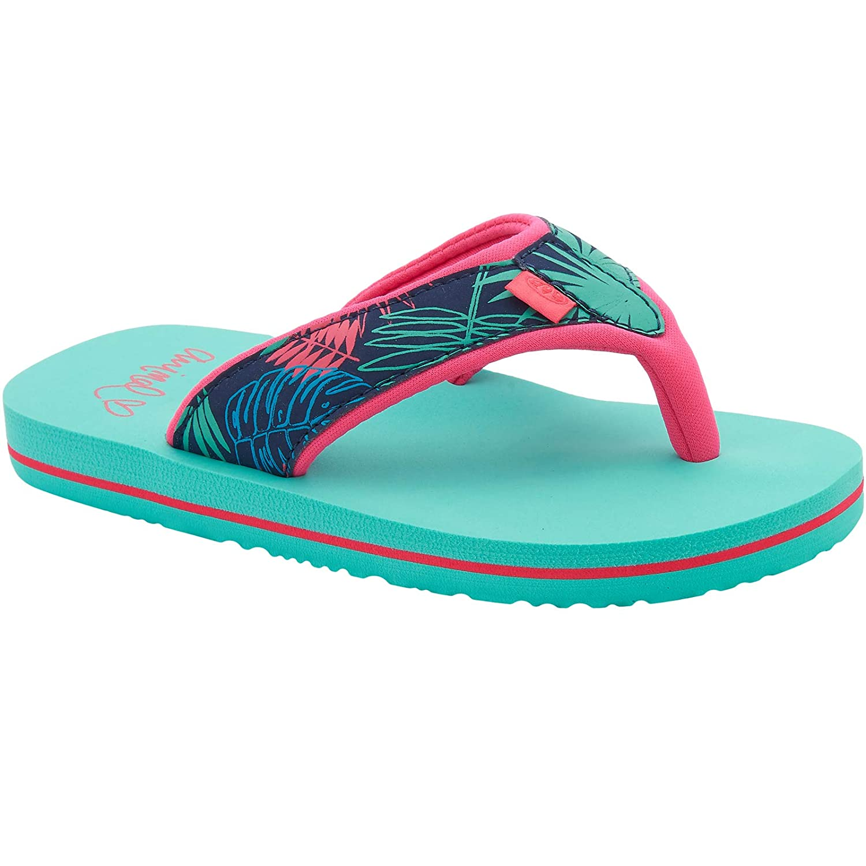 Animal Girls Kids Swish Upper AOP Summer Flip Flops