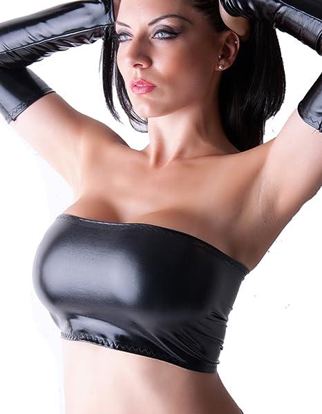 B33 negro húmedas con colores de Lycra Mini forma de pecho PVC tubo de imitación de