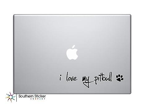 I Love My Pitbull Perro vinilo pegatina para coche Símbolo Silueta Teclado Track Pad adhesivo para
