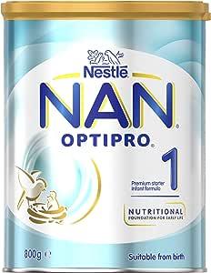 NESTLE NAN OPTIPRO 1, Starter 0-6 Months Baby Formula Powder, 800g