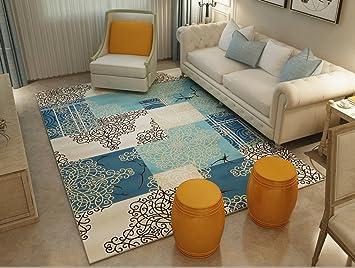 Rechteckiger Teppich, Mode Nordic Geometrie Streifen Teppich Wohnzimmer  Sofa Couchtisch Teppich Schlafzimmer Teppich Modern Einfacher