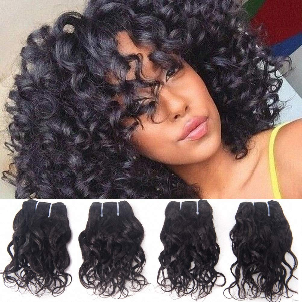 Brazilian Curly Human Hair Weave 4 Bundles Wet And Wavy 8a Grade Real Raw Virgin Remy Hair Extensions Unprocessed Brazillian Loose Italian Curl