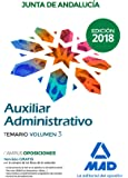 Auxiliares Administrativos de la Junta de Andalucía: Auxiliar Administrativo de la Junta de Andalucía. Temario Volumen 3