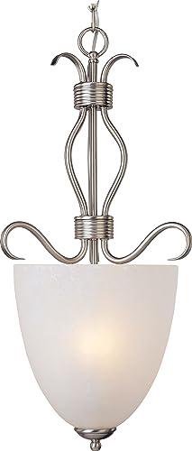 Maxim 10131ICSN, Basix Large Bowl Pendant, 4 Light, 240 Total Watts, Satin Nickel
