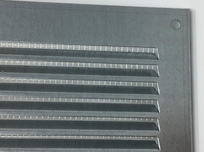 mit Insektenschutz Abluftgitter L/üftungsgitter -Metall Wetterschutzgitter Verzinkt 400x200mm