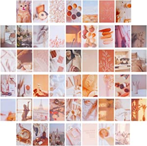 MuiSci 50 PCS Wall Collage Kits, Wall Collage Aesthetic Pictures, Aesthetic Dorm Decor for Teen Girls and Boys, Collage Art Print for Room Decor, Collage Wall Sets for Dorm Bedroom Aesthetic, 4*6 inch (Bohemian style)