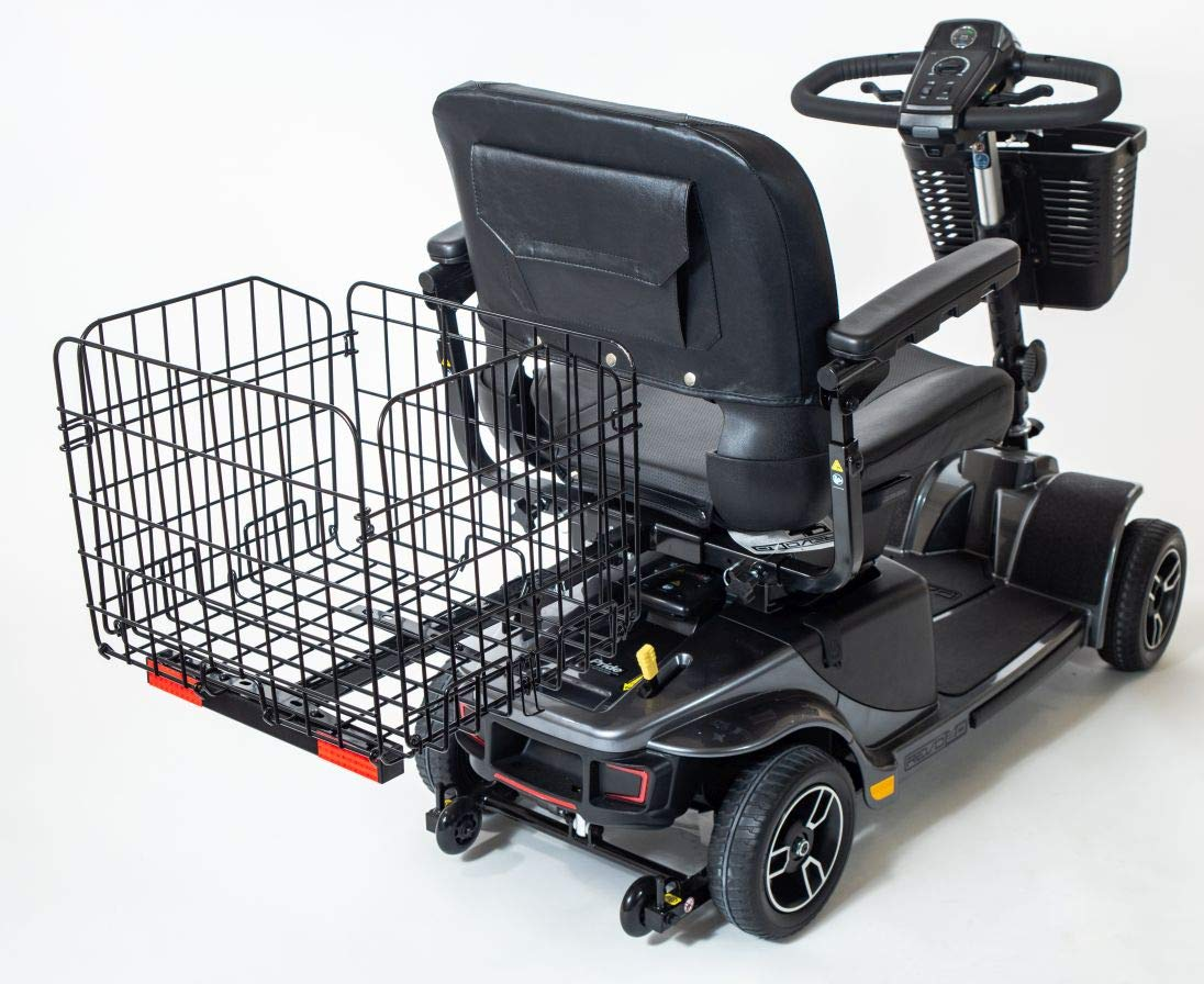 Folding Rear Basket for Pride Electric Mobility Scooter XL Heavy-Duty by Pride