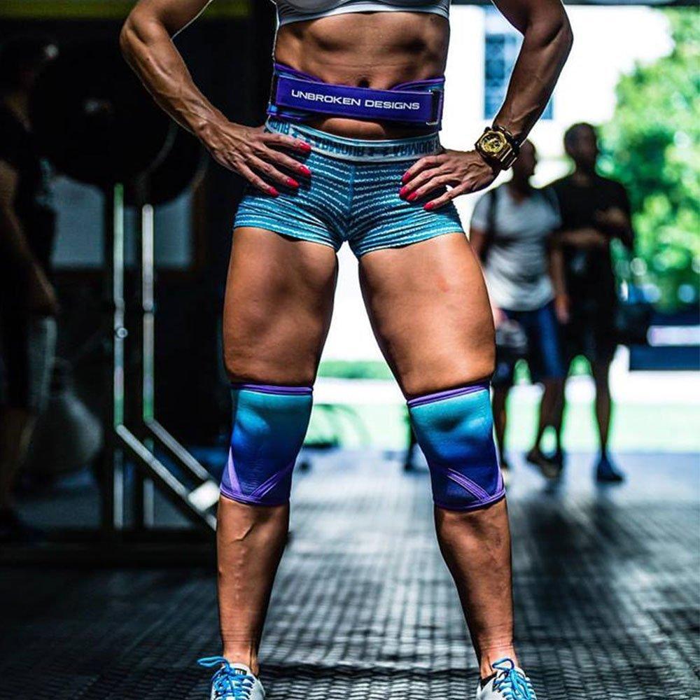 "Weight Lifting Belt 4/"" Purple Ombre Unbroken Designs Women CrossFit WOD"