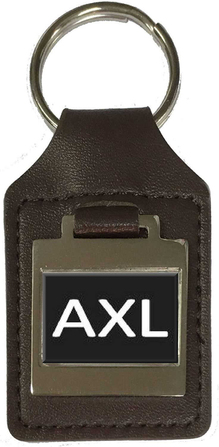Axl Leather Keyring Birthday Name Optional Engraving