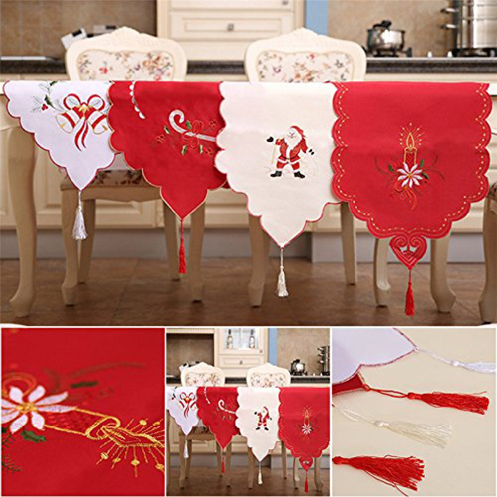 Christmas Table Runner Uk.Christmas Decorations Trees 13x71 Red Christmas Table