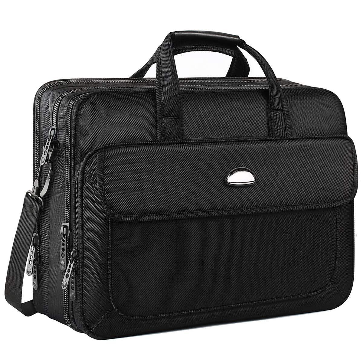 17 inch Laptop Bag, Expandable Large Briefcase, Messenger Bags for Men, Crossbody Shoulder Bag Fit up to 17 inch Laptop Notebook MacBook Pro Air Ultrabook