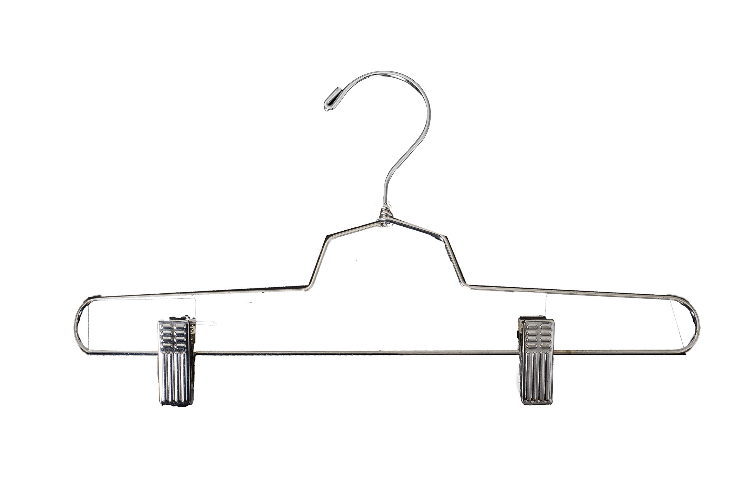 NAHANCO SLD-PANT Metal Pant Hangers, 14'', Chrome (Pack of 100) by NAHANCO