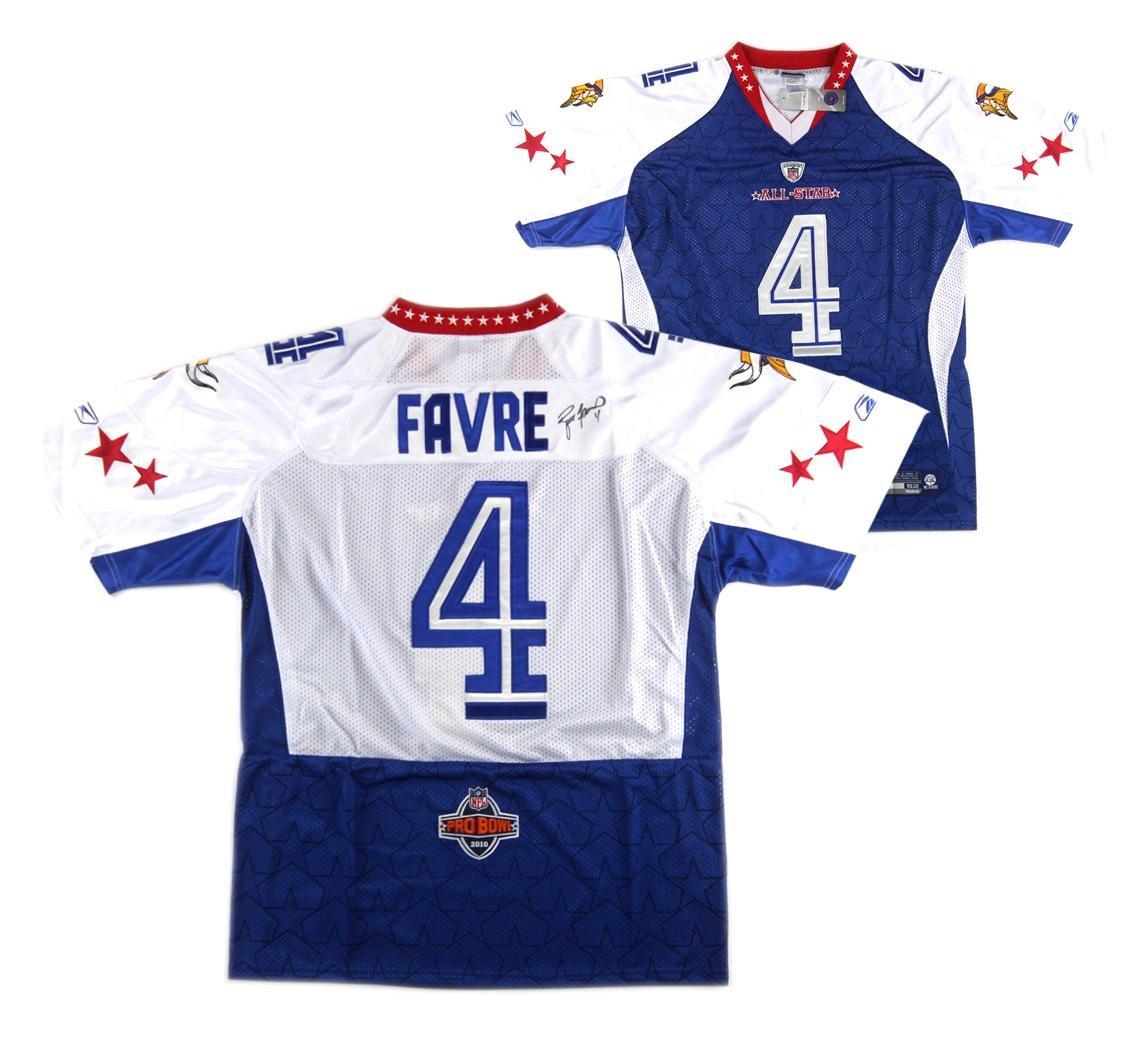 Brett Favre Autographed Jersey - White Reebok Pro Bowl - Autographed NFL  Jerseys at Amazon s Sports Collectibles Store 95c4c0fea