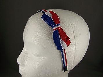 Amazon.com   Red White Blue 4th of July plastic headband grip teeth hair  band accessory   Beauty 52c01dd12a9