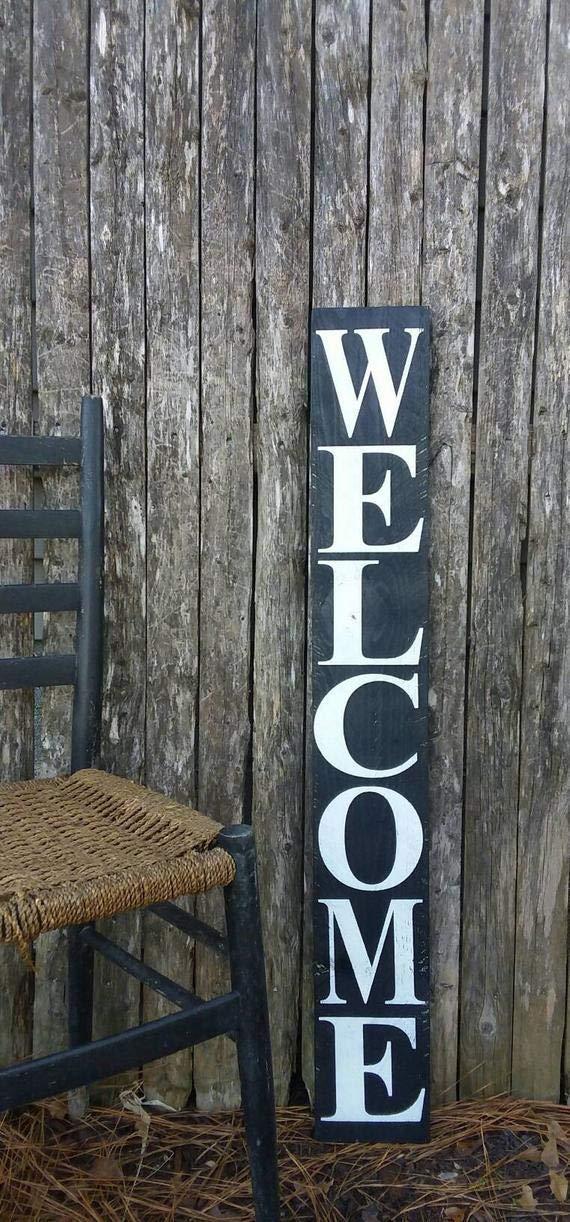 Amazon.com: Vertical Welcome Wooden Sign Farmhouse Decor ...
