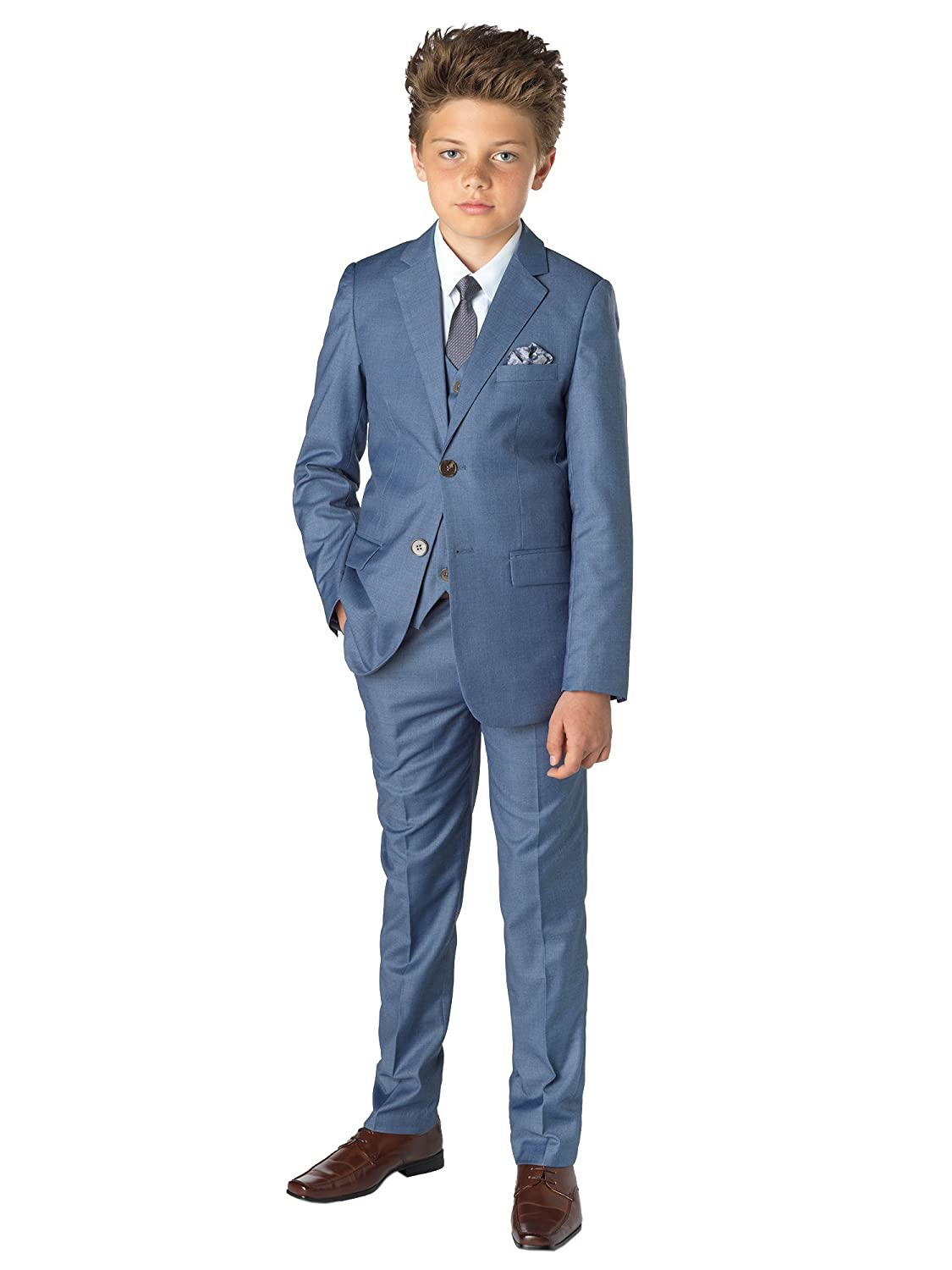 Paisley of London, Boys Blue Suit, Chambray Suit, Page Boy Suits ...