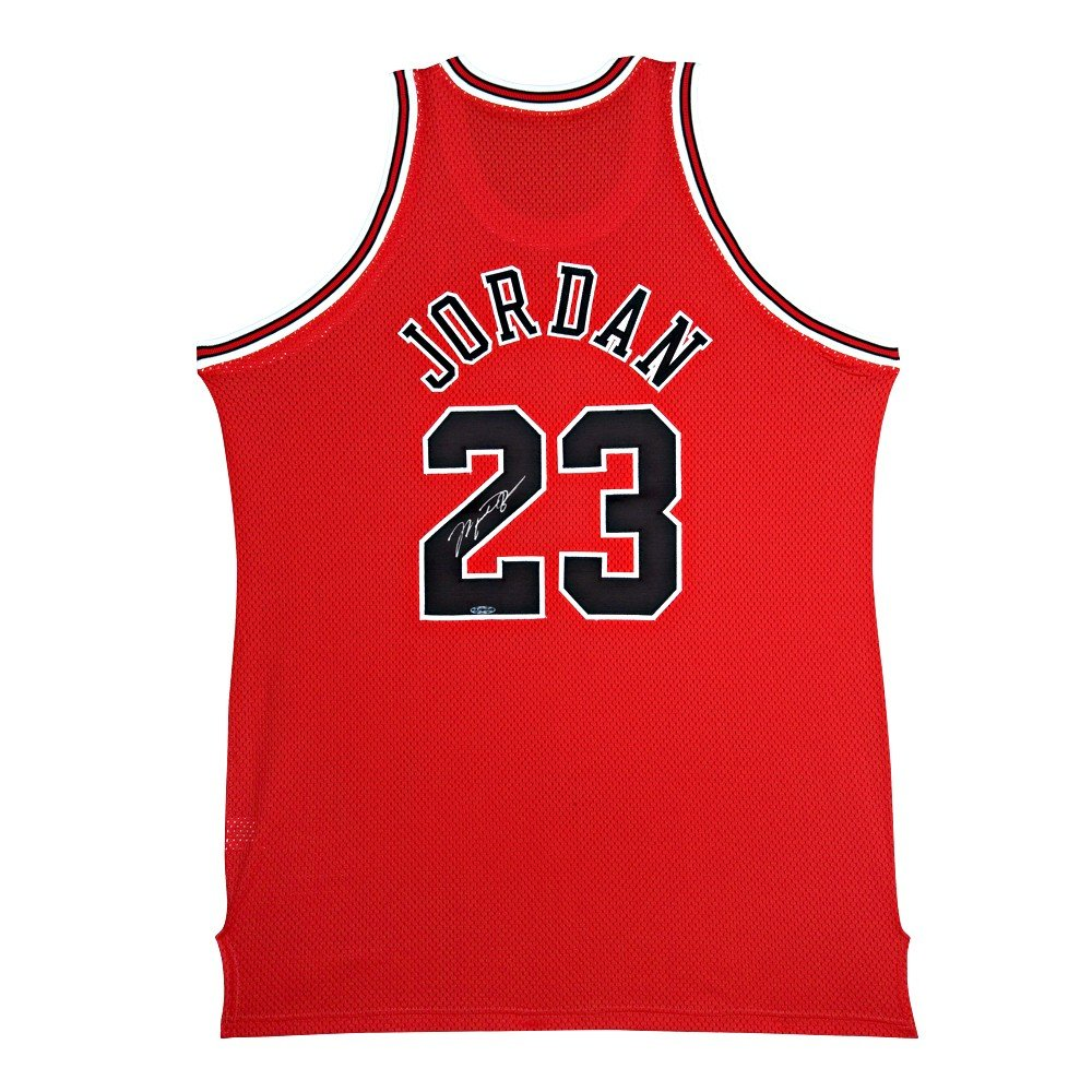 best sneakers 1138a 1b992 MICHAEL JORDAN Signed Bulls M N Authentic Jersey UDA at Amazon s Sports  Collectibles Store