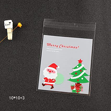 Amazon Com Minelife Christmas Candy Bags 100 Pieces