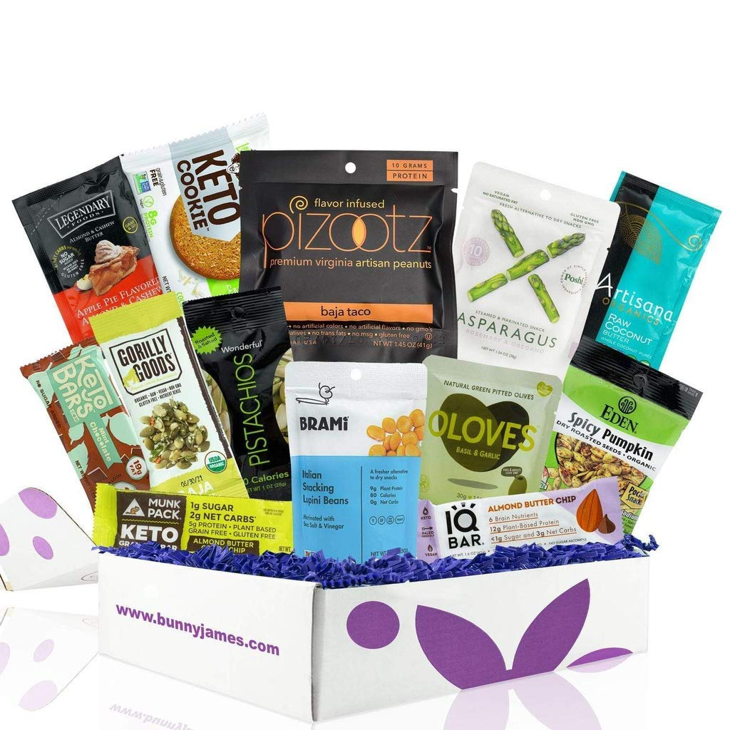 Keto Vegan Easter Basket: 13 Count Low-Carb Keto Easter Basket . Vegan and Vegetarian Keto Snacks With Coconut Butter, Pumpkin Seeds, and Vegan Keto Easter Candy