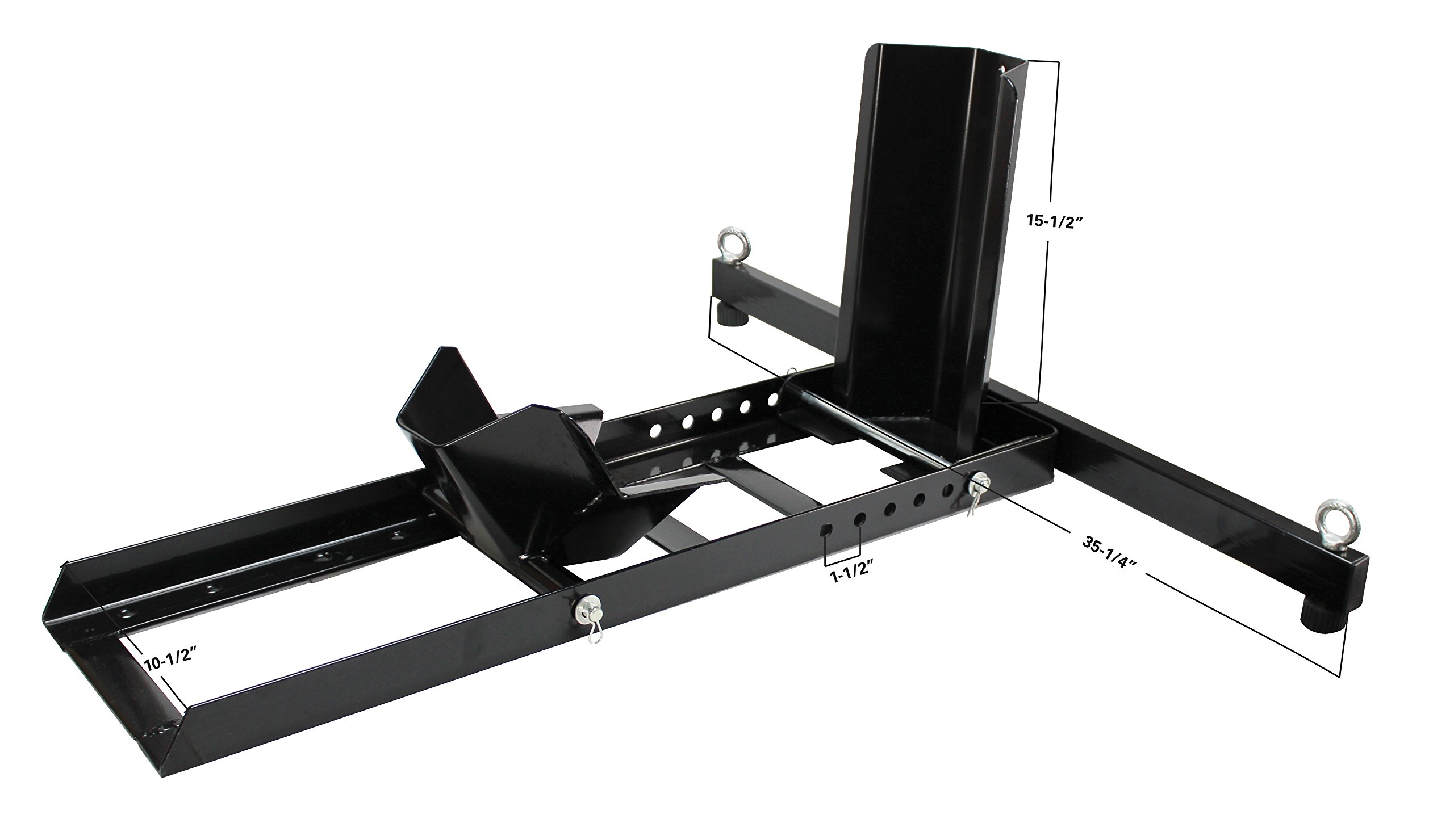 Extreme Max 5001.5757 Adjustable Motorcycle Stand/Wheel Chock-1,800 lbs by Extreme Max (Image #3)