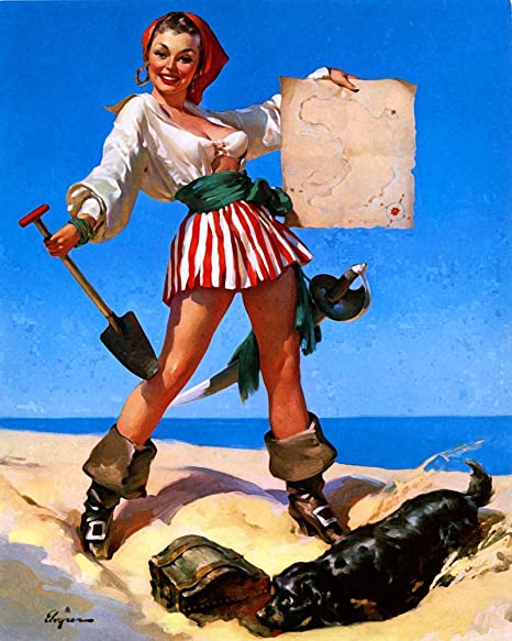 Pirate pinup pin up girl 6x8inch metal wall sign plaque vintage pirate pinup pin up girl 6x8inch metal wall sign plaque vintage retro poster art picture thecheapjerseys Images