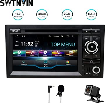 SWTNVIN Unidad de audio estéreo para coche Android 10 compatible ...