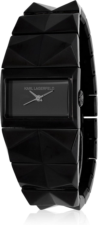 Karl Lagerfeld Womens KL2601 Black Stainless Steel Watch