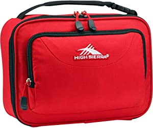High Sierra Single Compartment Lunch Bag, One Size, Crimson/Black