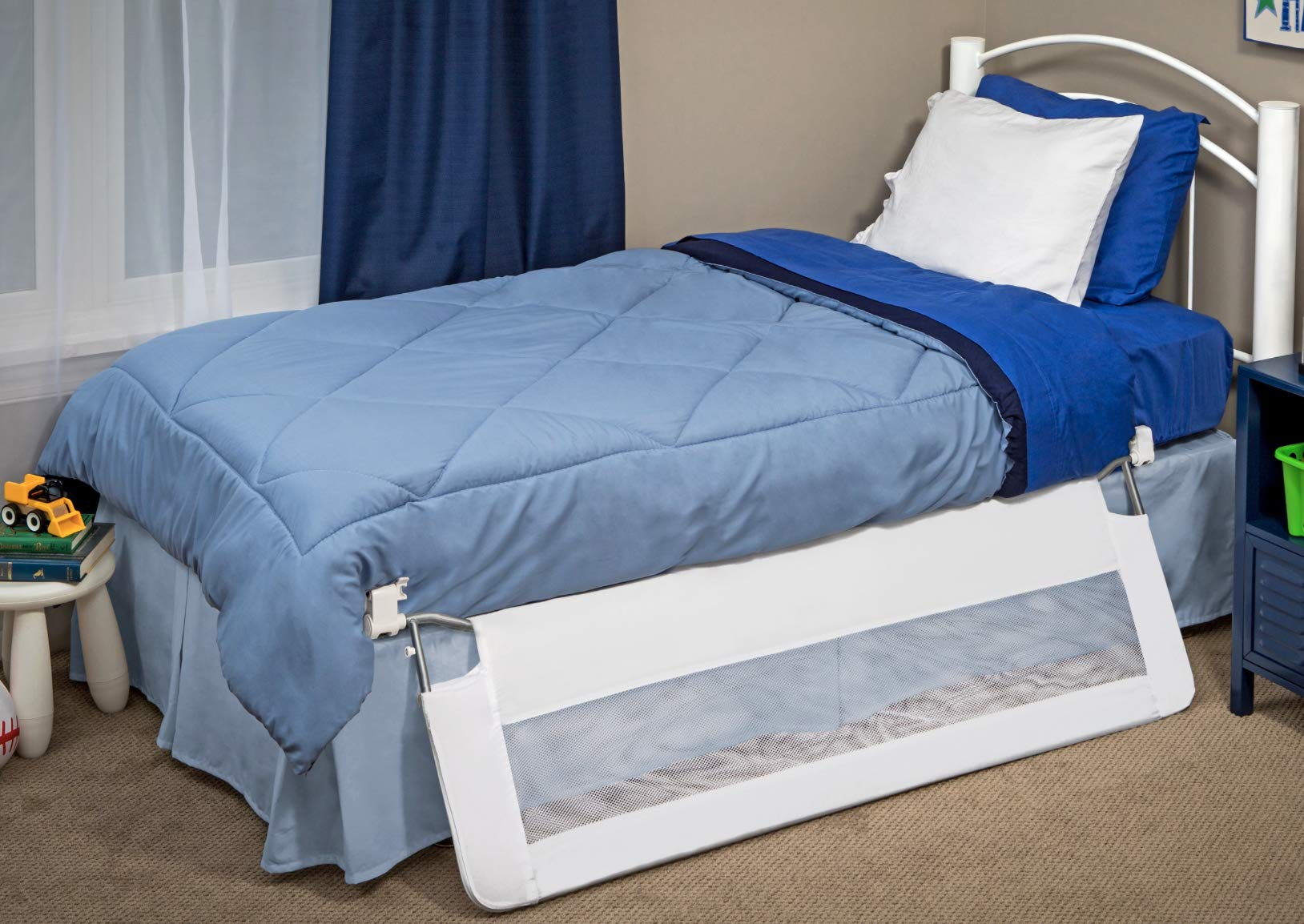 Regalo Swing Down 54-Inch Extra Long Bed Rail Guard Reinforced Anchor Safe New
