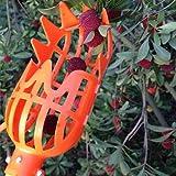 SHUNYUS Fruit Picker Basket Catcher Collecting Device Tool Garden Fruit Picker Basket Head Orchard Plastic Picking Oranges Apple Avocado(Orange)