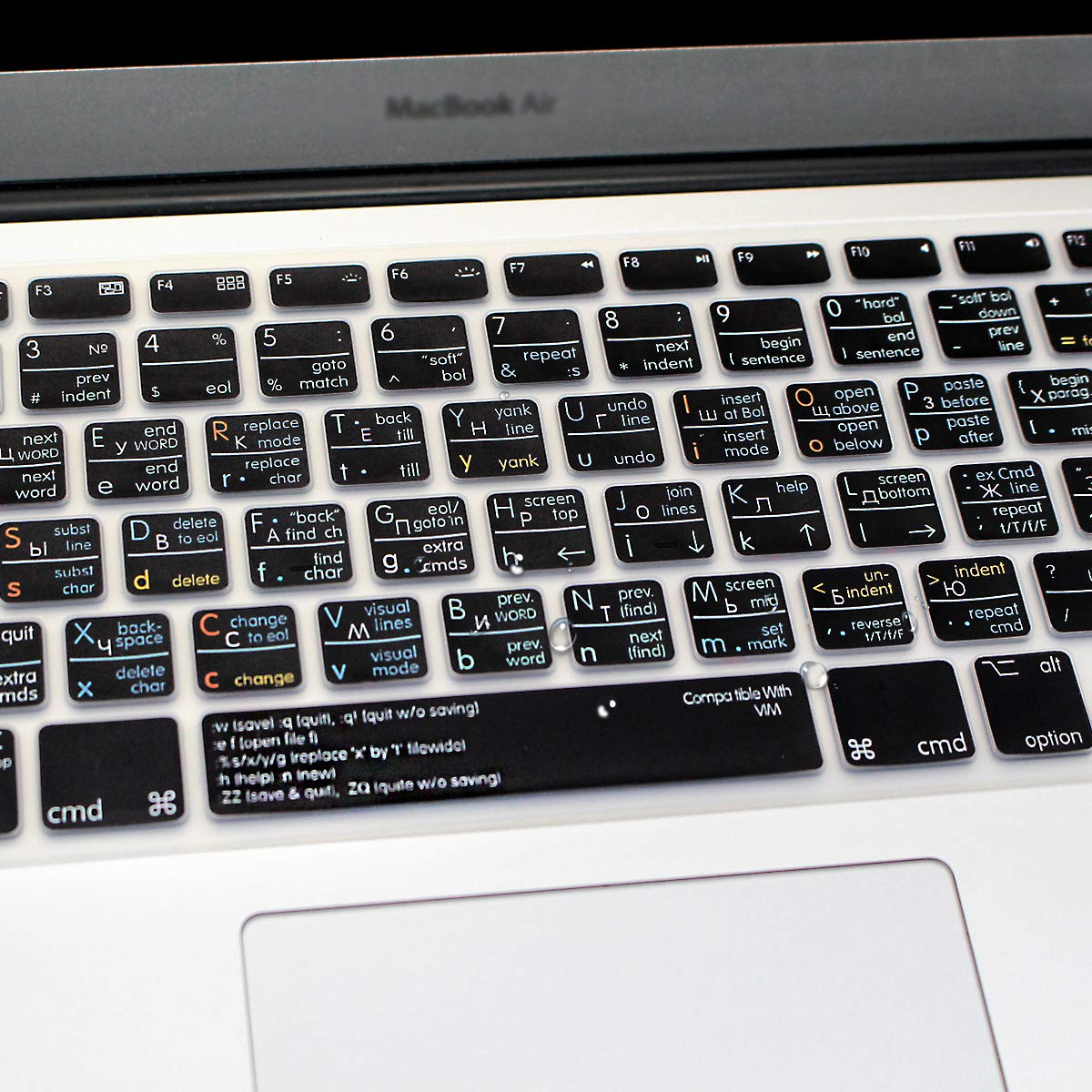 /&Older iMac USA Layout Keyboard Protective Film HRH Black Russian Language Silicone Keyboard Cover Skin for MacBook Air 13,MacBook Pro 13//15//17 with or w//Out Retina Display, 2015 or Older Version