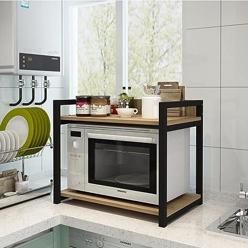 Bobe Shop- Küche Multifunktionsregal - Holz Mikrowelle Regal Küche