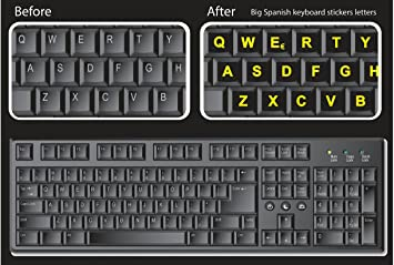 Amazon royal green glowing fluorescent keyboards stickers for royal green glowing fluorescent keyboards stickers for pc large lettering work easily and type faster spiritdancerdesigns Images