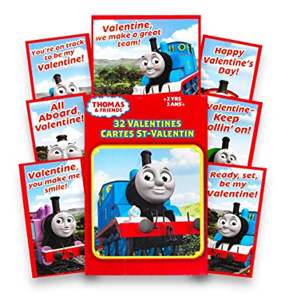 Amazon Com Thomas Friends 32 Valentines Cards Office Products