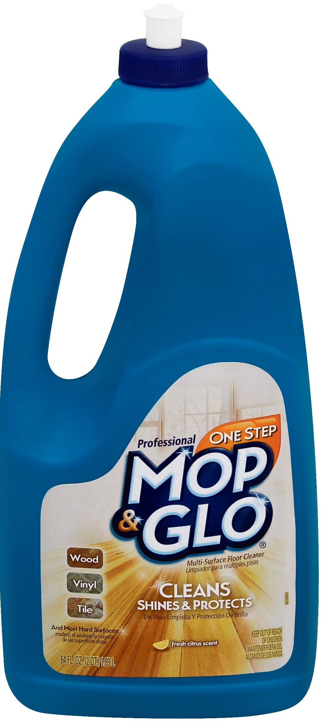 Mop & Glo Professional Multi-Surface Floor Cleaner, 384 fl oz (6 Bottles x 64 oz), Triple Action Shine Cleaner