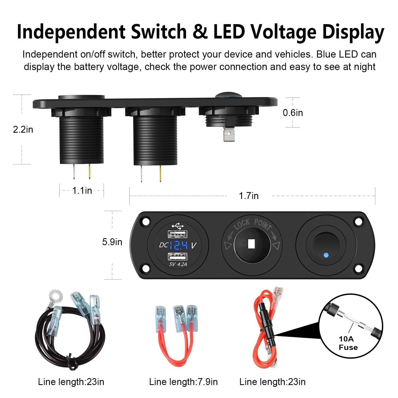Amazon.com: Cargador USB para coche.: Automotive