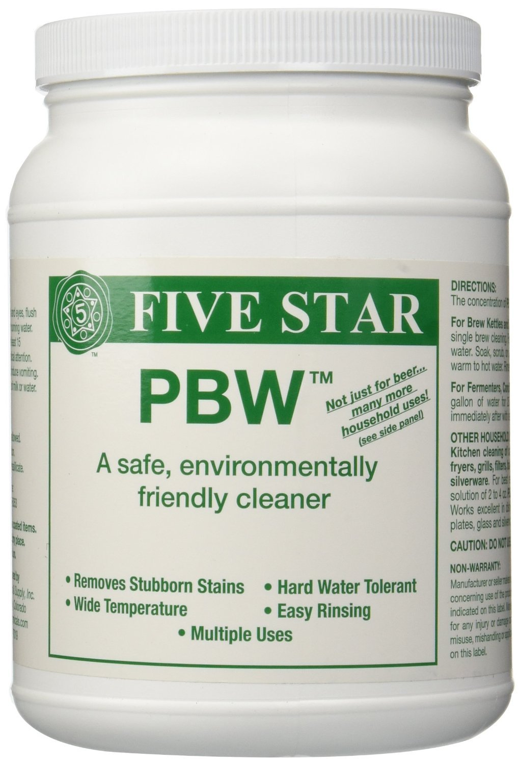 Five Star PBW Cleaner (Powdered Brewery Wash), 4-Pound Jar by Five Star (Image #1)