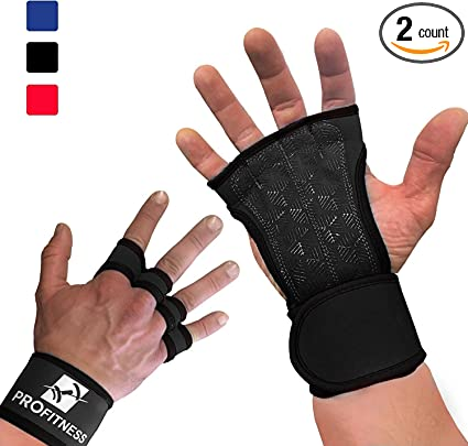 Mava Sports Ventilated Workout Gloves with Integrated Wrist Wraps and Full Palm Silicone Padding Powerlifting Extra Grip /& No Calluses WODs Perfect for Weight Lifting Pull Ups Cross Training