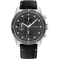 Tommy Hilfiger Men's Analog Quartz Watch with Leather Strap 1791838