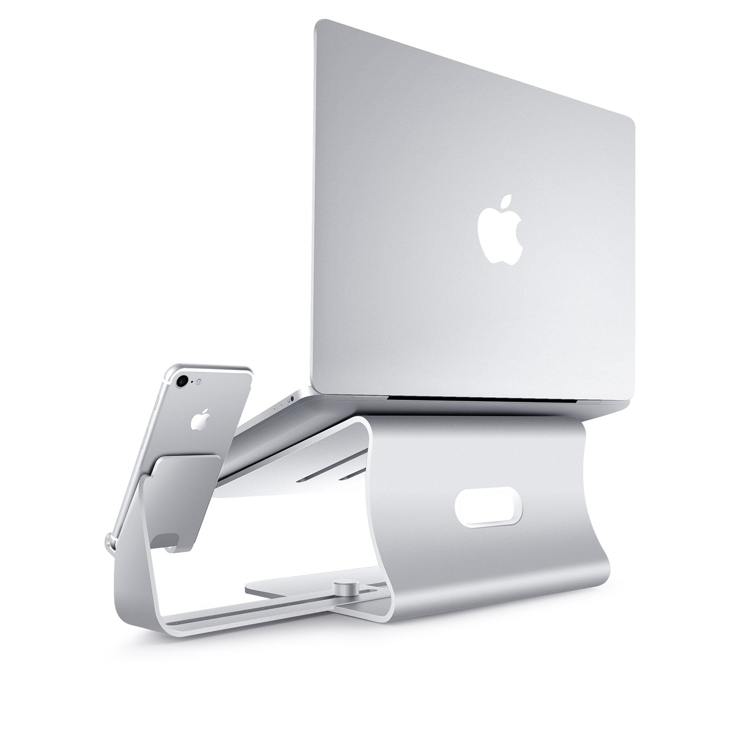 2 in 1 Laptop and Phone Stand - Bestand Aluminum Cooling Computer Stand: [UPDATE VERSION] Stand, Holder for Apple Macbook Air, Macbook Pro, All Notebooks, iPhone Series, Silver (Patented) by Bestand (Image #3)