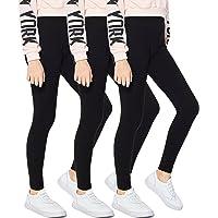 Arshiner Little Girls Leggings Ankle Length Stretch High Waist Pants Ruffle Striped Dress Leggings