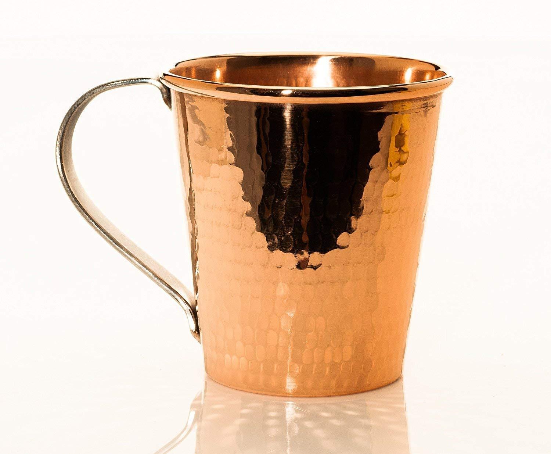 Sertodo Copper CMM-18 Moscow Mule Mug, Hand Hammered 100% Pure Copper, 18 oz, Single