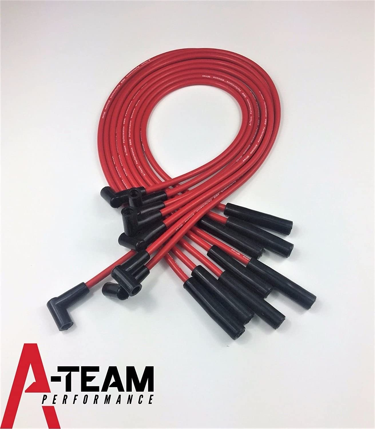 Amazon.com: A-Team Performance SBC 350 SMALL CAP DISTRIBUTOR COIL + RED 8mm  SPARK PLUG WIRES UNDER THE EXHAUST: Automotive