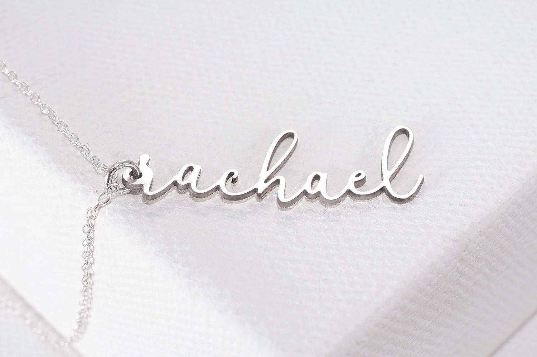 Amazon.com: Collar con nombre personalizado, pequeño y ...